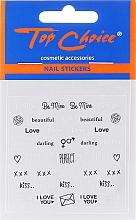 Voňavky, Parfémy, kozmetika Samolepky na nechty, 42317, 6 ks - Top Choice Word Golds Silver