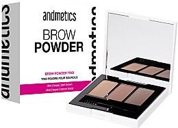 Voňavky, Parfémy, kozmetika Púder na obočie - Andmetics Brow Powder Trio