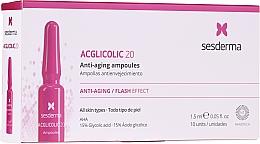 Voňavky, Parfémy, kozmetika Ampulky s kyselinou glykolovou proti starnutiu - SesDerma Laboratories Acglicolic Anti-Aging Flash Effect Ampoules