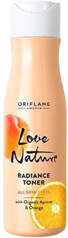 Obnovujúce tonikum na tvár s bio marhuľou a pomarančom - Oriflame Love Nature Radiance Toner