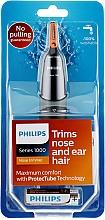 Voňavky, Parfémy, kozmetika Zastrihávač chĺpkov v nose a ušiach - Philips NT1150/10