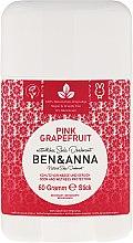 """Voňavky, Parfémy, kozmetika Dezodorant na základe sódy """"Ružový grapefruit"""" (plastový) - Ben & Anna Natural Soda Deodorant Pink Grapefruit"""