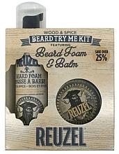 Voňavky, Parfémy, kozmetika Sada - Reuzel Wood and Spice Beard Try Me Kit (balm/35g + foam/70ml )