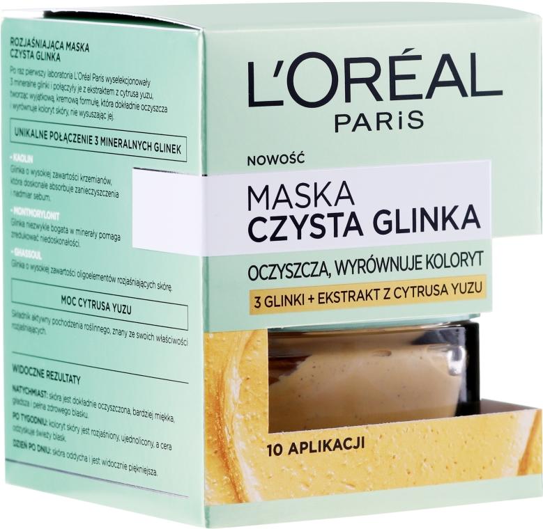 Maska na tvár s prírodnou hlinou a citrónovým yuzu - L'Oreal Paris Skin Expert Mask