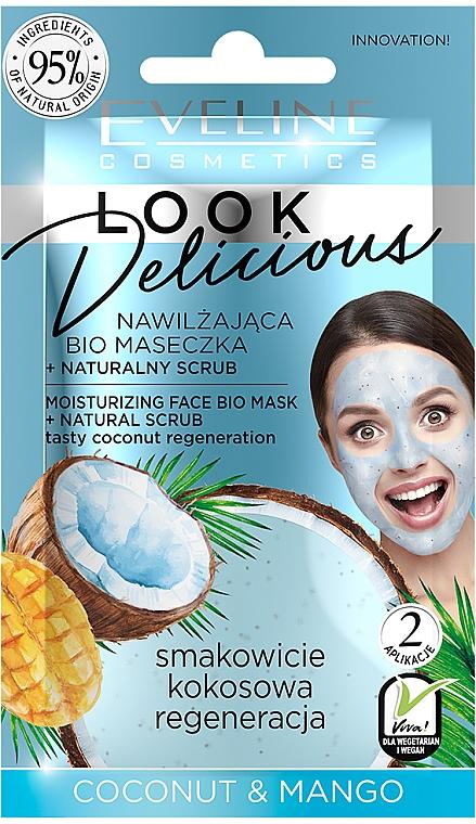 "Hydratačná maska ""Kokos a mango"" - Eveline Cosmetics Look Delicious Face Bio Mask"