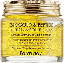 Voňavky, Parfémy, kozmetika Ampulkový krém so zlatom a peptidmi - FarmStay 24K Gold & Peptide Perfect Ampoule Cream