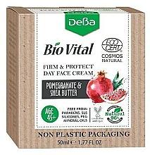 Voňavky, Parfémy, kozmetika Denný krém na tvár 45+ - DeBa Bio Vital Firm and Protect Day Face Cream with Pomegranate Extract