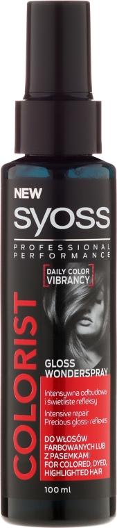 Sprej pre lesk na farbené vlasy - Syoss Colorist Gloss Wonderspray Hair Spray
