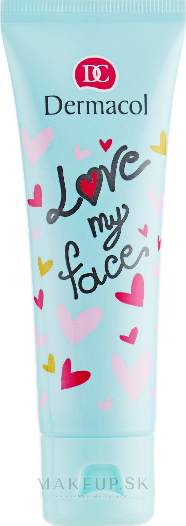 Emulzia na tvár s vôňou marhúľ a vanilky - Dermacol Love My Face Apricot & Vanilla Scent Face Cream  — Obrázky 50 ml