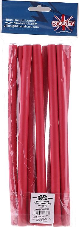 Profesionálne pružné natáčky na vlasy 12/240, červené - Ronney Professional Flex Rollers