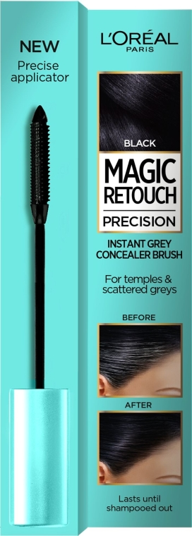 Korektor na vlasy - L'Oreal Magic Retouch Precision Instant Grey Concealer Brush