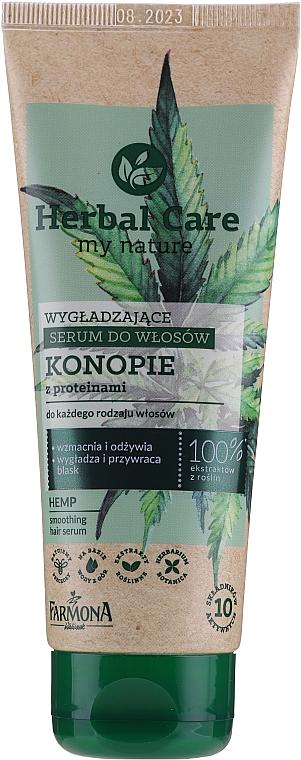 Vyhladzujúce sérum na vlasy - Farmona Herbal Care Smoothing Hair Serum with Hemp Oil and Protein