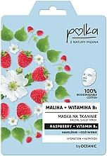 """Voňavky, Parfémy, kozmetika Textilná maska """"Malina a vitamín B3"""" - Polka Raspberry And Vitamin B3 Facial Sheet Mask"""
