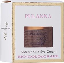 Voňavky, Parfémy, kozmetika Očný krém proti vráskam s biozlatom a extraktom z hrozna - Pulanna Bio-gold & Grape Anti-wrinkle Eye Cream