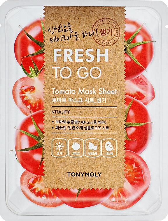 Osviežujúca textilná maska s paradajkami - Tony Moly Fresh To Go Mask Sheet Tomato