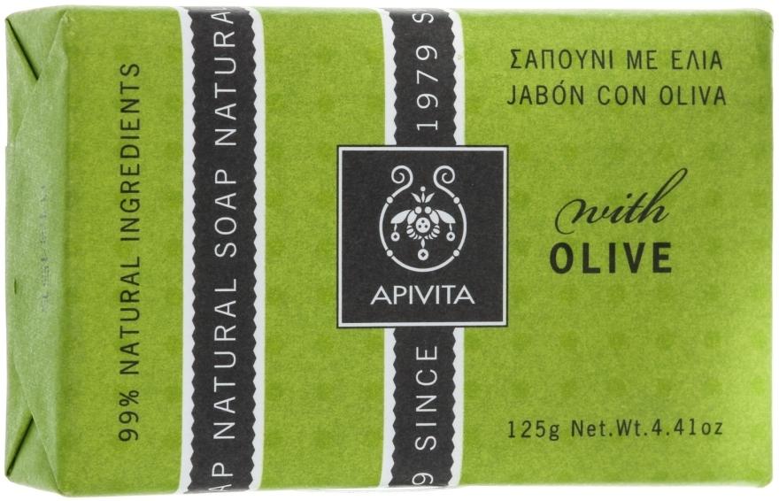 "Mydlo ""Olivy"" - Apivita Natural Soap with Olive — Obrázky N1"