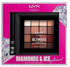 Voňavky, Parfémy, kozmetika Sada - NYX Professional Makeup Diamonds & Ice Please Shadow & Liner Set (sh/palette/16x1.18g+liner/2ml)