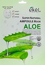 Voňavky, Parfémy, kozmetika Látková maska s extraktom z aloe - Ekel Super Natural Ampoule Mask Aloe