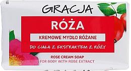 Voňavky, Parfémy, kozmetika Toaletné mydlo s extraktom z ruží - Gracja Rose Cream Soap With Rose Extract