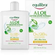 Voňavky, Parfémy, kozmetika Hydratačný gél pre intímnu hygienu - Equilibra Aloe Moisturizing Cleanser For Personal Hygiene