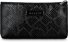 """Voňavky, Parfémy, kozmetika Kozmetická taška čierna, plochá """"Black Snake"""" - Makeup"""