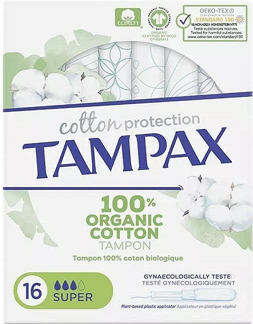 Tampóny s aplikátorom, 16 ks - Tampax Cotton Protection Super — Obrázky N1