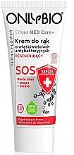 Voňavky, Parfémy, kozmetika Regeneračný krém na ruky - Only Bio Silver Med Care+ SOS Peony Flower Hand Cream