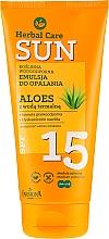 Voňavky, Parfémy, kozmetika Vodotesná opaľovacia emulzia - Farmona Herbal Care Sun SPF 15