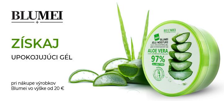 Pri nákupe výrobkov Blumei vo výške od 20 € získaj ako darček upokojujúci gél s aloe