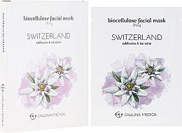 "Voňavky, Parfémy, kozmetika Textilná maska ""Švajčiarsko"" - Calluna Medica Switzerland Lifting Biocellulose Facial Mask"