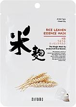 Voňavky, Parfémy, kozmetika Textilná maska na tvár s extraktom z ryžových otrúb - Mitomo Rice Leaven Essence Mask