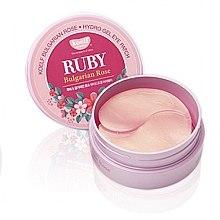 Voňavky, Parfémy, kozmetika Hydrogélové vankúšiky s rubínom a bulharskou ružou - Petitfee & Koelf Ruby & Bulgarian Rose Eye Patch