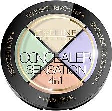 Voňavky, Parfémy, kozmetika Paleta korektorov na tvár - Eveline Cosmetics Concealer Sensation 4in1