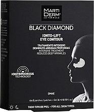 Voňavky, Parfémy, kozmetika Náplasti pre oblasť okolo očí - MartiDerm Black Diamond Ionto-Lift Eye Contour