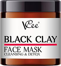 Voňavky, Parfémy, kozmetika Maska na tvár s čiernou hlinou - VCee Black Clay Face Mask Cleansing&Detox