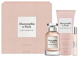 Voňavky, Parfémy, kozmetika Abercrombie & Fitch Authentic - Sada (edp/100ml + b/lot/200ml + edp/15ml)