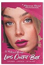 Voňavky, Parfémy, kozmetika Súprava na líčenie pier - Pierre Rene Lips Outfit Box No. 01 @MsHeraOfficial (lipstick/3g + lip/pensil/0.4g + lip/gloss/6ml)