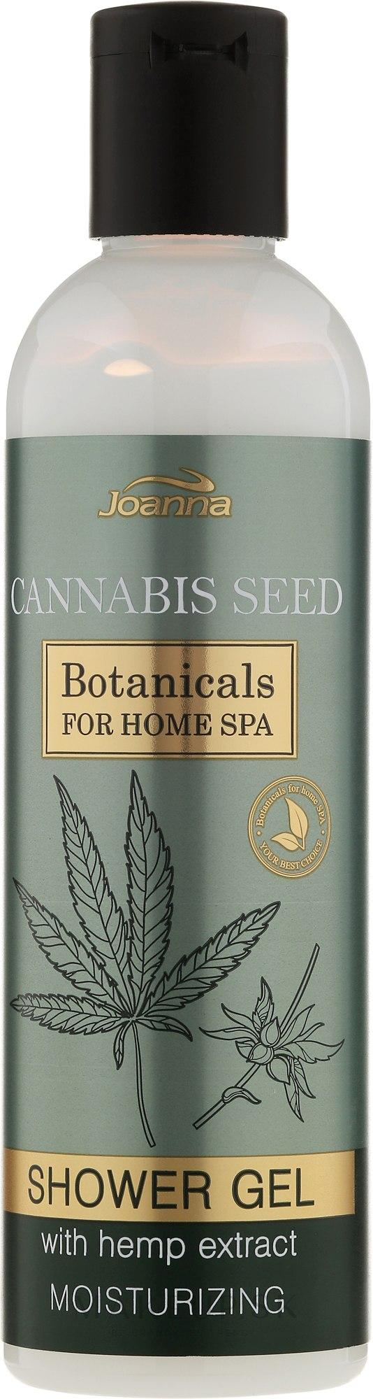 Hydratačný sprchový gél - Joanna Botanicals For Home Spa Cannabis Seed Shower Gel — Obrázky 240 ml