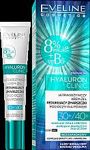 Voňavky, Parfémy, kozmetika Krém-gél pod očí - Eveline Cosmetics Hyaluron Clinic 30+/40+