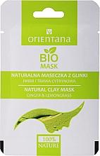 """Voňavky, Parfémy, kozmetika Hlinená maska pre kombinovanú pleť """"Zázvor a citrónová tráva"""" - Orientana (papierové balenie)"""