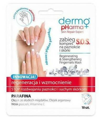 Obnovujúci zábal na nechty - Dermo Pharma Skin Repair Expert S.O.S. Regenerating& Strengthening Fingernails Mask