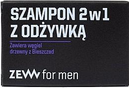 Voňavky, Parfémy, kozmetika Šampón 2 v 1 s kondicionérom a dreveným uhlím - Zew For Men Shampoo