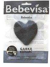 """Voňavky, Parfémy, kozmetika Špongia na umývanie, srdce """"Bambusové uhlie"""" - Bebevisa Konjac Sponge"""