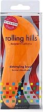 Voňavky, Parfémy, kozmetika Kefa na vlasy, oranžová - Rolling Hills Detangling Brush Travel Size Orange