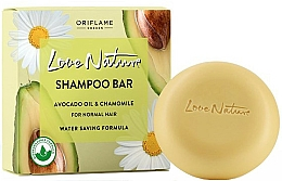 Voňavky, Parfémy, kozmetika Tuhý šampón pre normálne vlasy s avokádom a harmančekom - Oriflame Love Nature Shampoo Bar Avocado Oil & Chamomile For Normal Hair