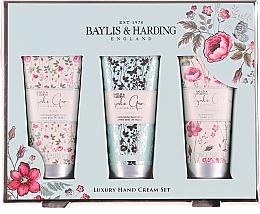 Voňavky, Parfémy, kozmetika Sada na starostlivosť o ruky - Baylis & Harding Royale Garden Luxury Hand Care Set (h/cr/3x50ml)