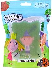 """Voňavky, Parfémy, kozmetika Detská hubka do kúpeľa """"Ben a Holly"""", Ben, zeleno-ružová - Suavipiel Ben & Holly Bath Sponge"""