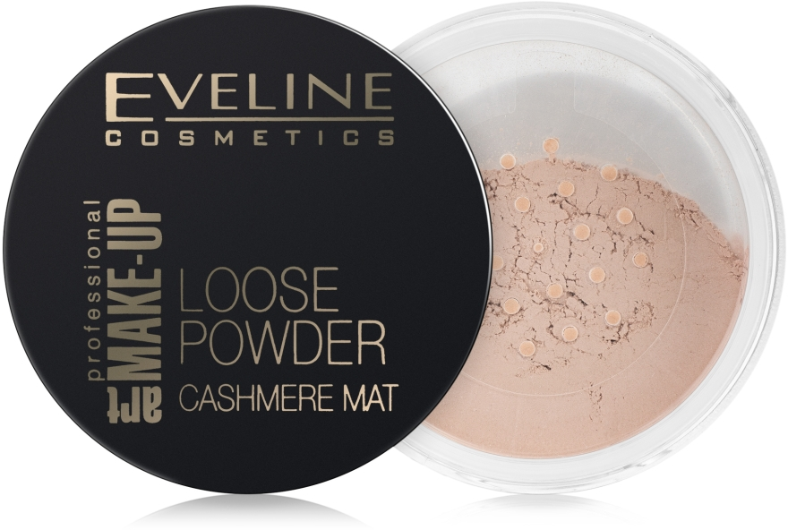 Matný sýpky púder - Eveline Cosmetics Loose Powder Cashmere Mat — Obrázky N1