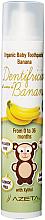 """Voňavky, Parfémy, kozmetika Detská zubná pasta """"Banán"""" - Azeta Bio Organic Tooth Paste Banana"""