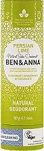 """Voňavky, Parfémy, kozmetika Dezodorant na základe sódy """"Perzská limetka"""" (kartón) - Ben & Anna Natural Soda Deodorant Paper Tube Persian Lime"""